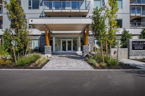 Inlet Glen Apartments community entrance in Port Moody, BC