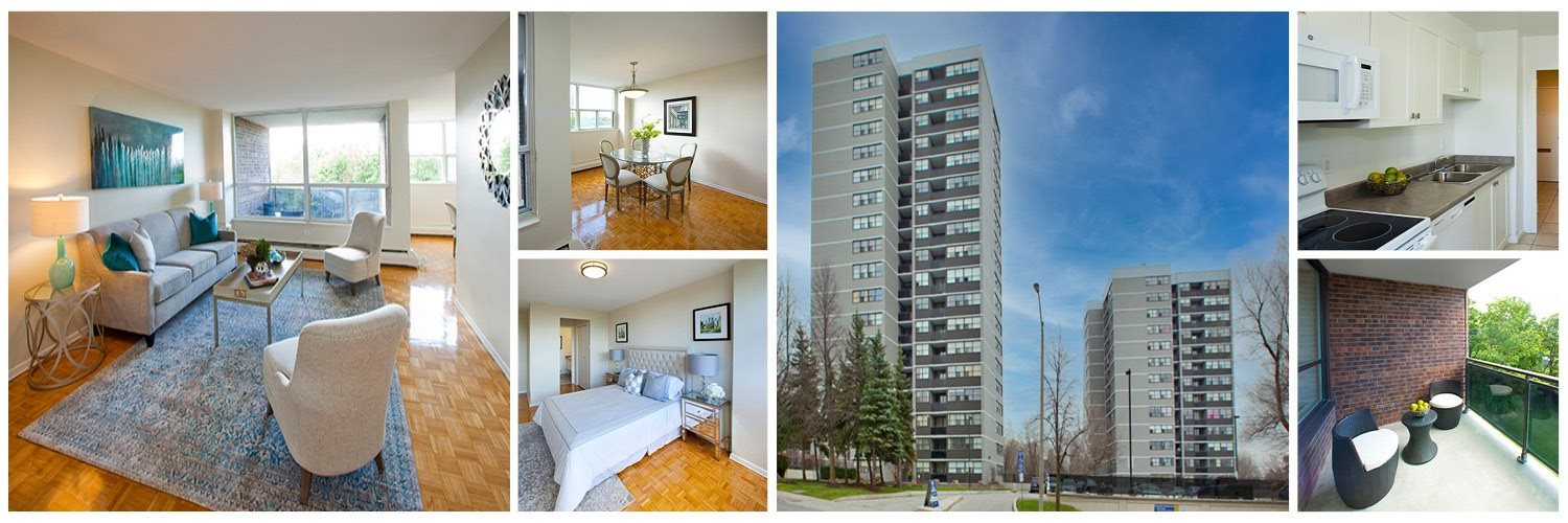 Spacious suites with balcony at Brookbanks Apartments in Toronto, ON