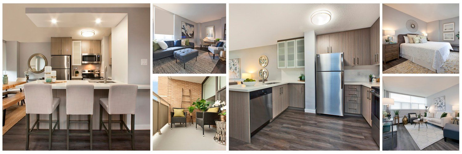 Main Square Apartments in Toronto, ON collage of upgraded suite finishes