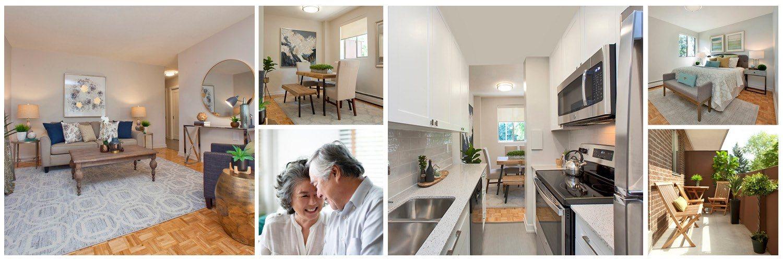 Millside Apartments collage of interior suite