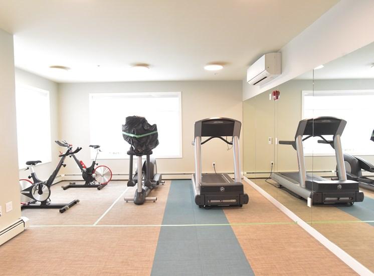 Aqua residential rental apartments fitness center cardio machines