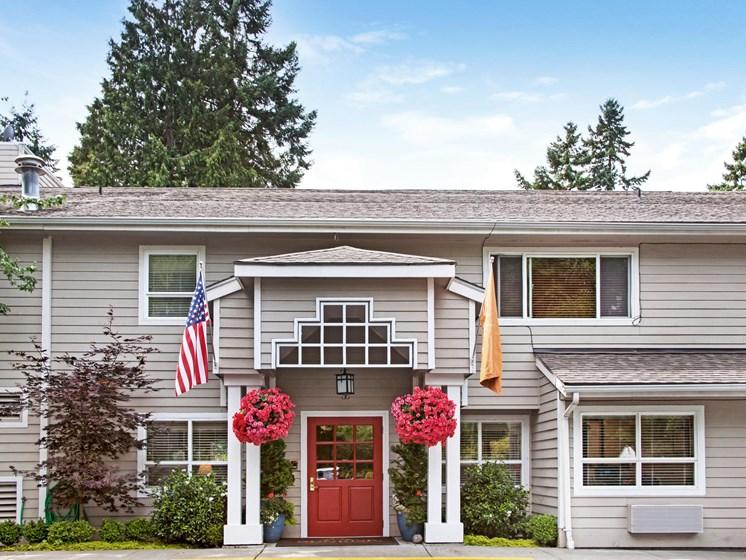 Front Entrance at Cogir of Northgate Memory Care, Washington