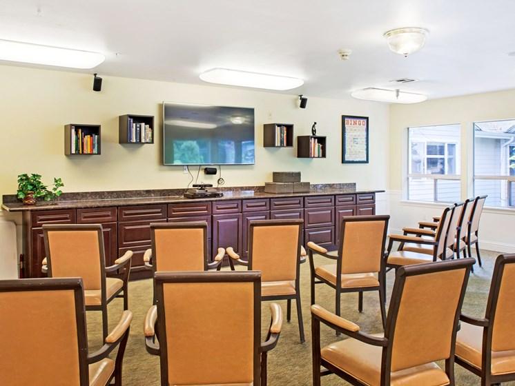 Activity Room at Cogir of Northgate Memory Care, Washington