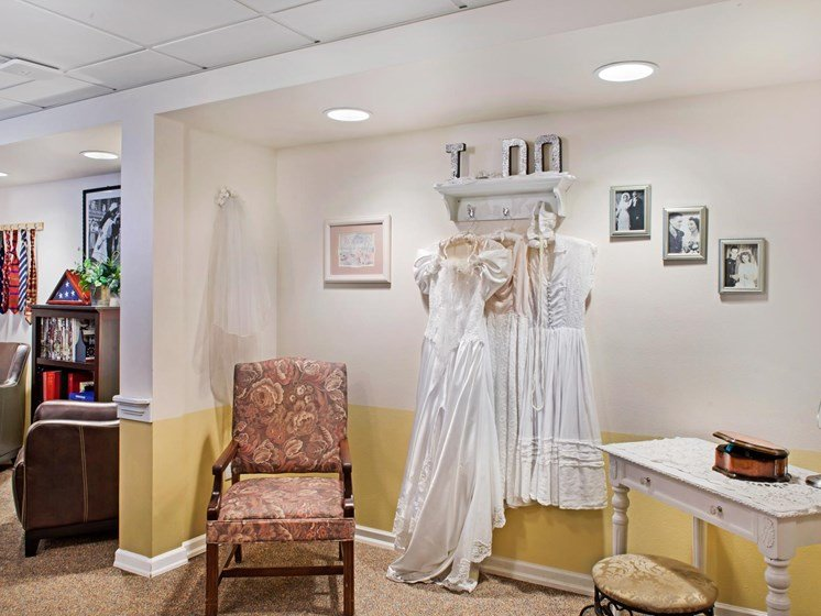 Dressing Area at Cogir of Northgate Memory Care, Seattle