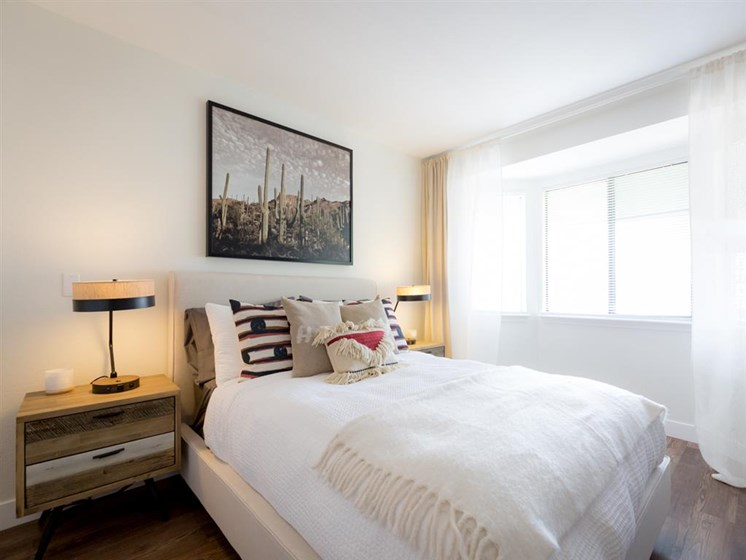 Beautiful Bright Bedroom With Wide Windows at Cogir of Fremont, Fremont