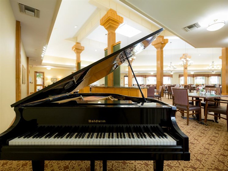 Plaza Lounge With Piano at Cogir of Fremont, Fremont, California