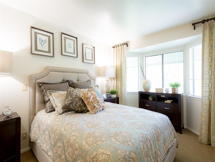 Bedroom With Expansive Windows at Cogir of Fremont, Fremont, 94536