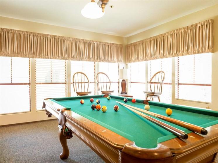 Billiards Table In Game Room at Cogir of Manteca, Manteca, CA