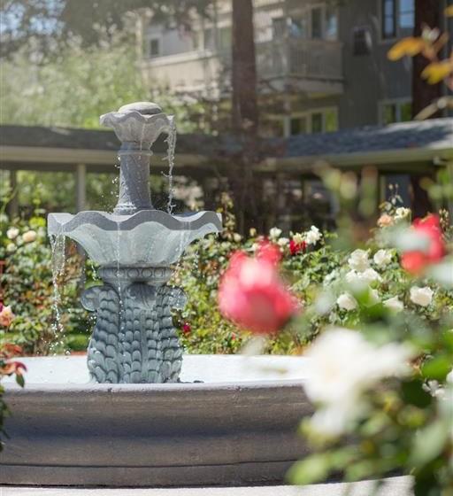 Beautiful Fountain at Cogir of Rohnert Park, California