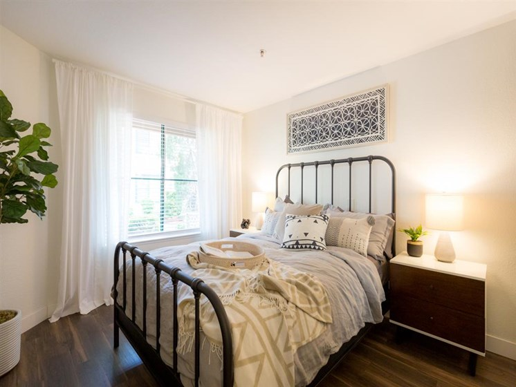 Bedroom With Expansive Windows at Cogir of Vacaville, California