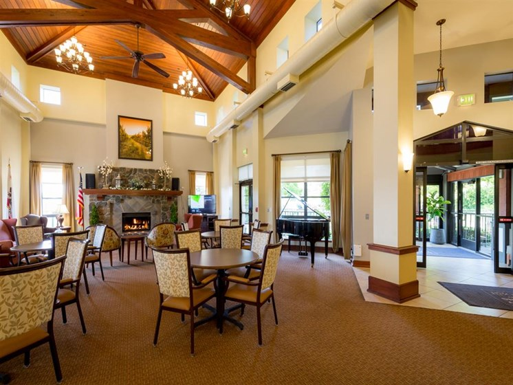 Lounge Area With Fireplace at Cogir of Vallejo Hills, Vallejo, 94591