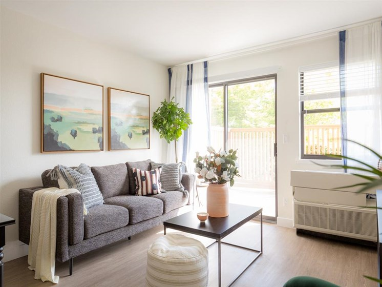 Living Room With Expansive Window at Cogir of Vallejo Hills, Vallejo