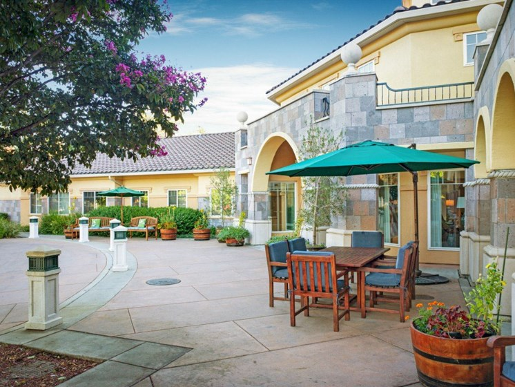 Outdoor Living Spaces at Cogir On Napa Road, Sonoma, California
