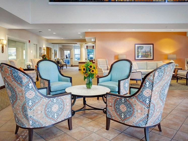 Resident Lounge at Cogir On Napa Road, Sonoma, 95476