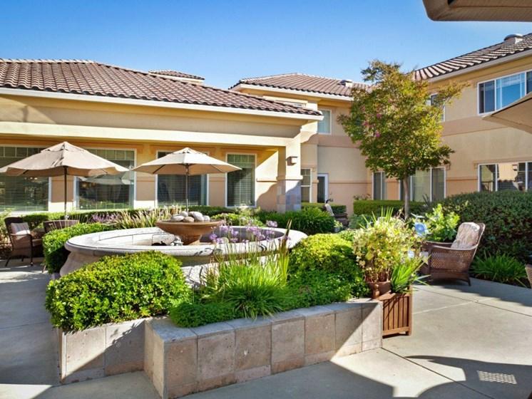 Lush Green Courtyard Wit Walking Paths at Cogir On Napa Road, Sonoma, CA, 95476