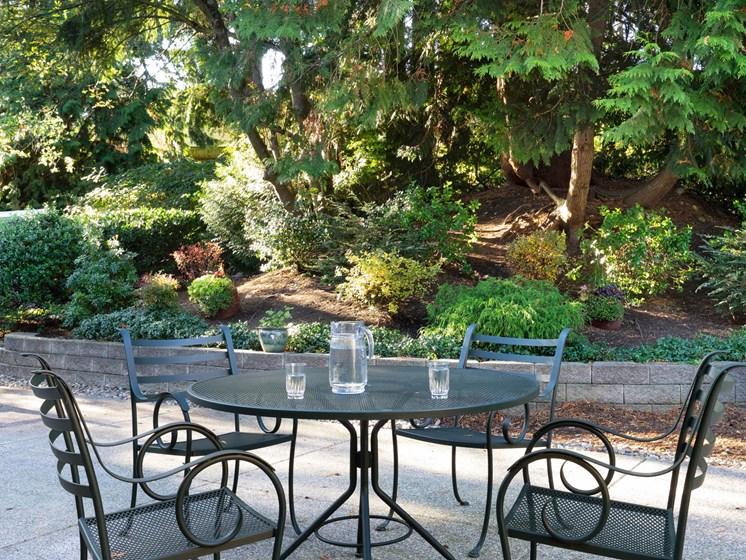 Outside dining area at Cogir of San Rafael Memory Care, San Rafael, CA
