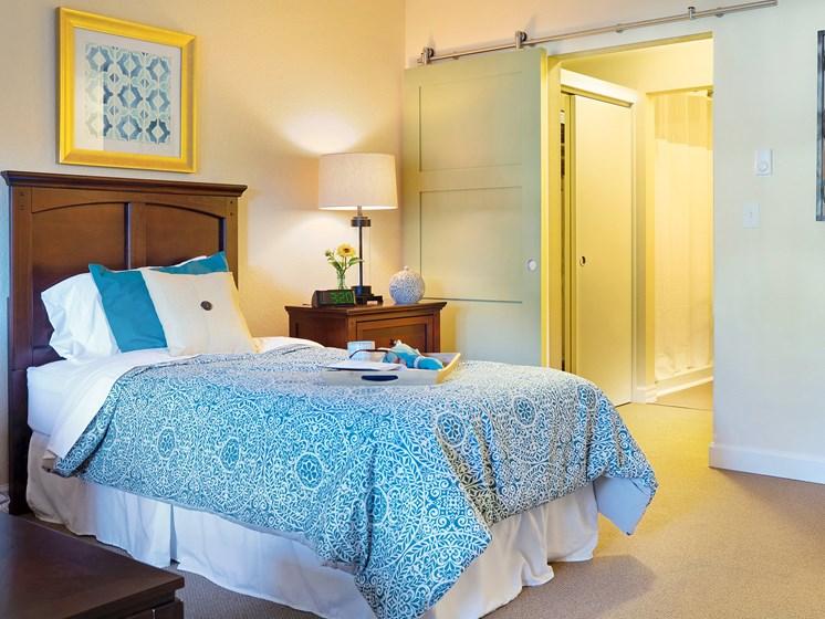 Spacious bedroom at Cogir of San Rafael Memory Care, San Rafael, CA, 94903