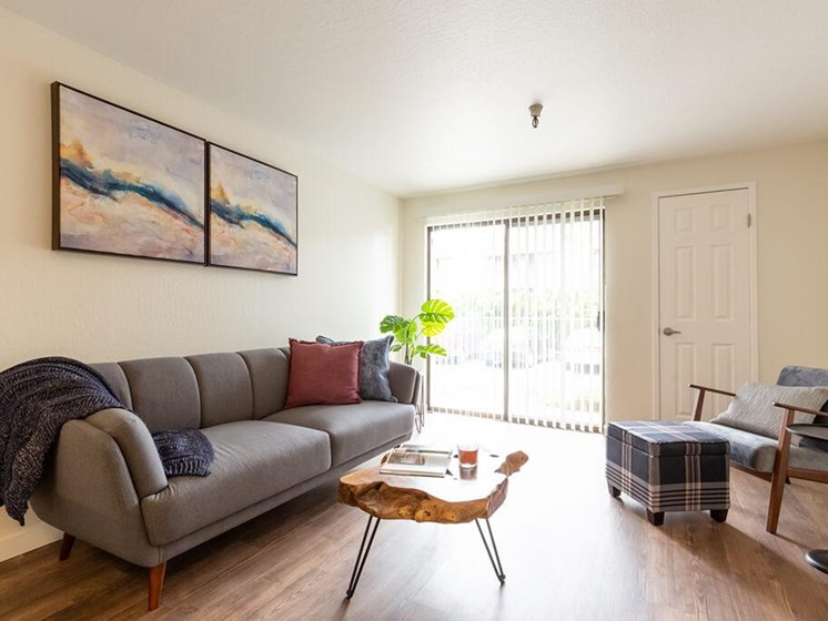 Living Room With Expansive Window at Cogir of Northgate, Seattle