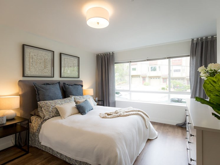 Beautiful Bright Bedroom With Wide Windows at Cogir of Queen Anne, Seattle, WA, 98109