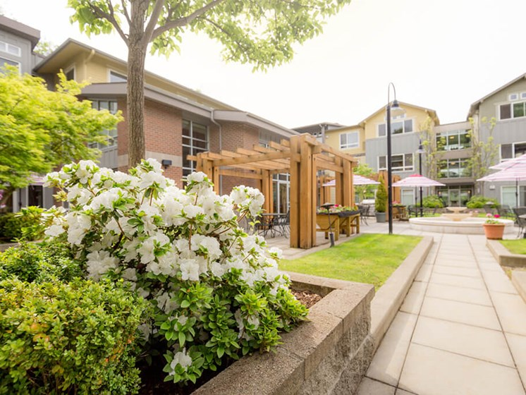 Garden Gazebo at Cogir of Queen Anne, Washington, 98109