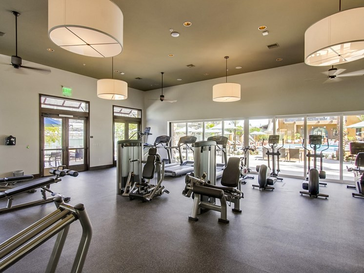 Fitness Center At The Club At Enclave Apartments In Chula Vista, CA
