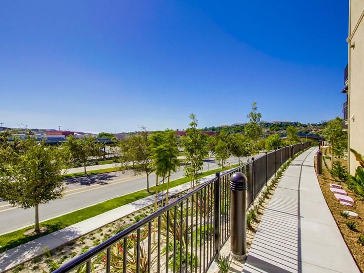 Walkway Path At The Club At Enclave Apartments In Chula Vista, CA