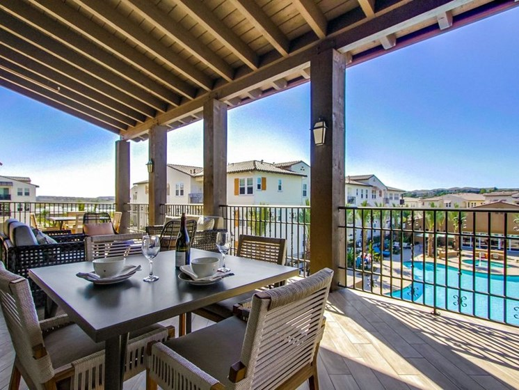 Leisure Deck In Clubhouse At The Club At Enclave Apartments In Chula Vista, CA