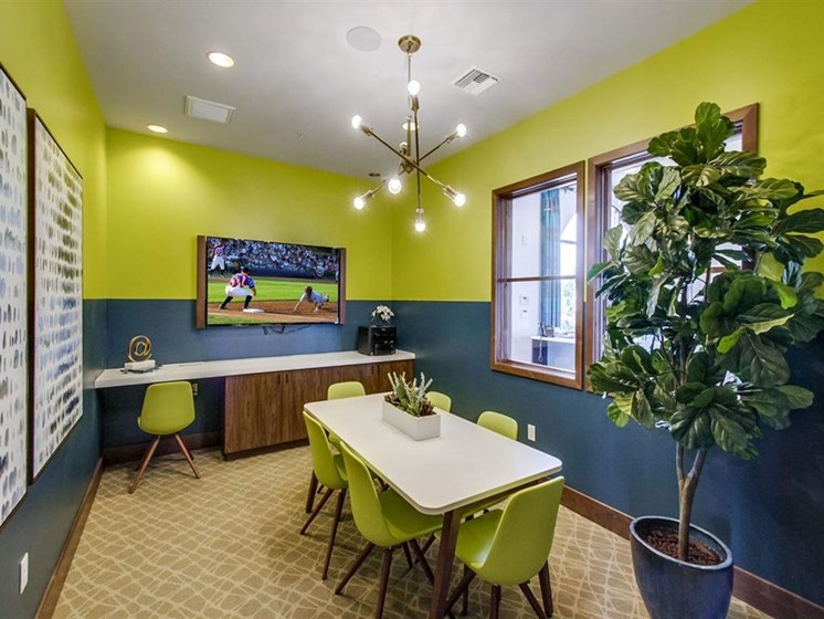 Conference Room In Business Center At The Club At Enclave Apartments In Chula Vista, CA