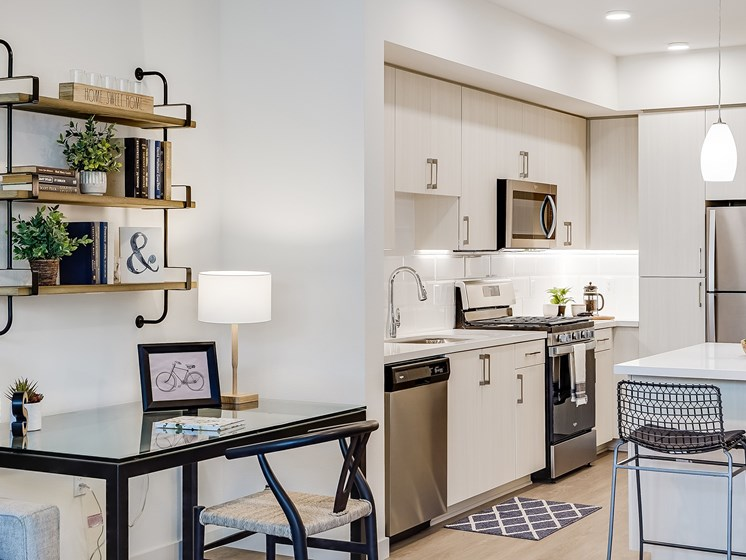 Work From Home Office Space One Bedroom Open Kitchen Layout at The Club at Enclave Apartments in Chula Vista, CA