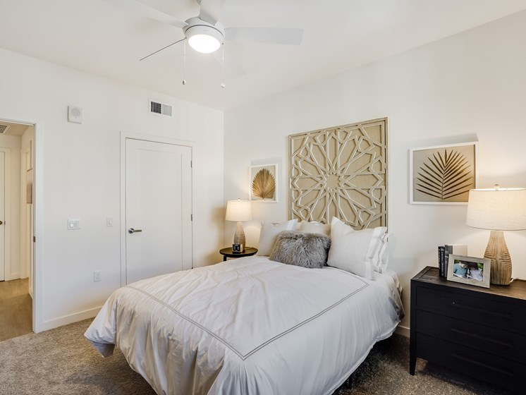 Modern Bedroom Spacious Brand New Apartments at The Club at Enclave in Chula Vista, CA