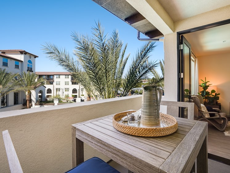 Private Outdoor Patio Off of Living Room