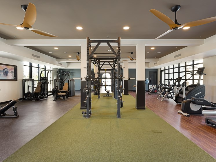 Fitness Center Gym New Luxury Apartments The Club at Enclave