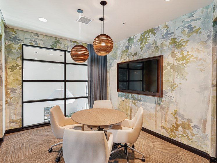 Conference Room Meeting Space Business Center Resident Living The Club at Enclave Chula Vista