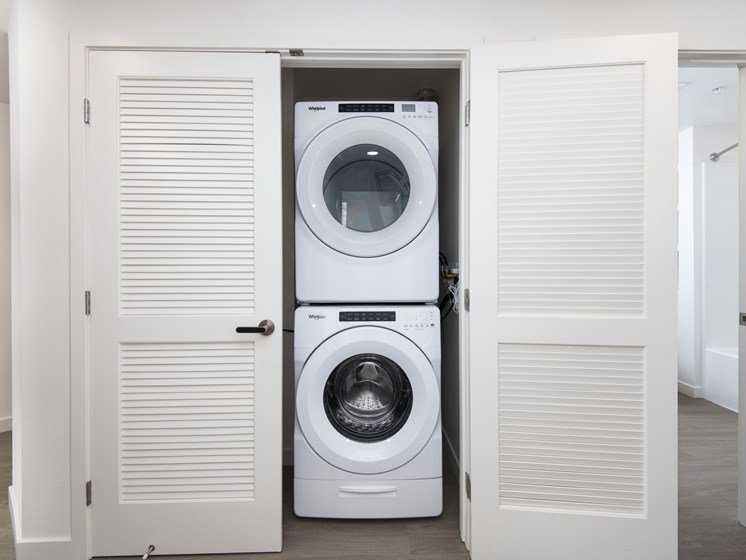 Stackable In-Unit Washer And Dryer At The Club At Enclave Apartments In Chula Vista, CA