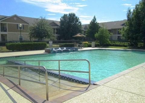 Sparkling community swimming pool
