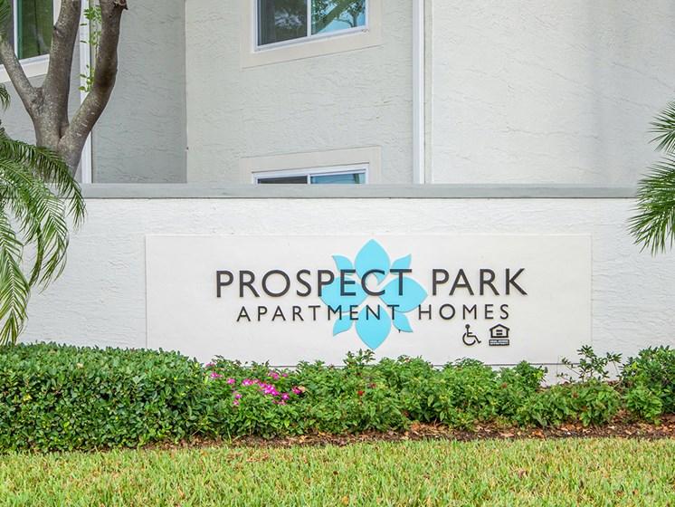 Prospect Park Monument Sign