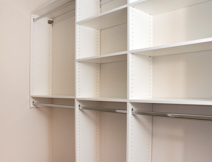California closet in every townhome