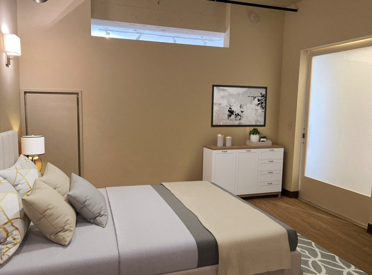 Large Master Bedrooms at 700 Central Apartments, MN, 55414
