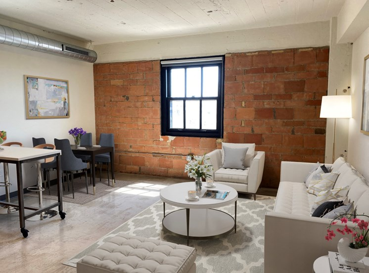Stylish Living Rooms at 700 Central Apartments, Minneapolis, Minnesota