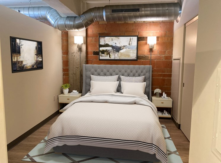 Spacious Bedroom With Comfortable Bed at 700 Central Apartments, MN, 55414