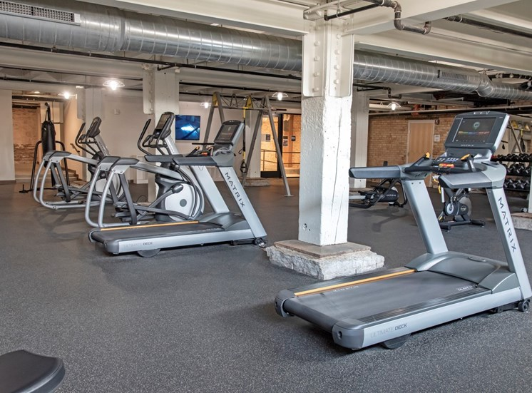 Cardio Equipment at 700 Central Apartments, Minneapolis, 55414