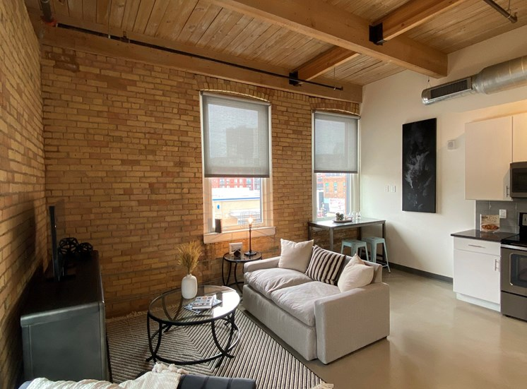 Contemporary Living Room at 700 Central Apartments, MN, 55414