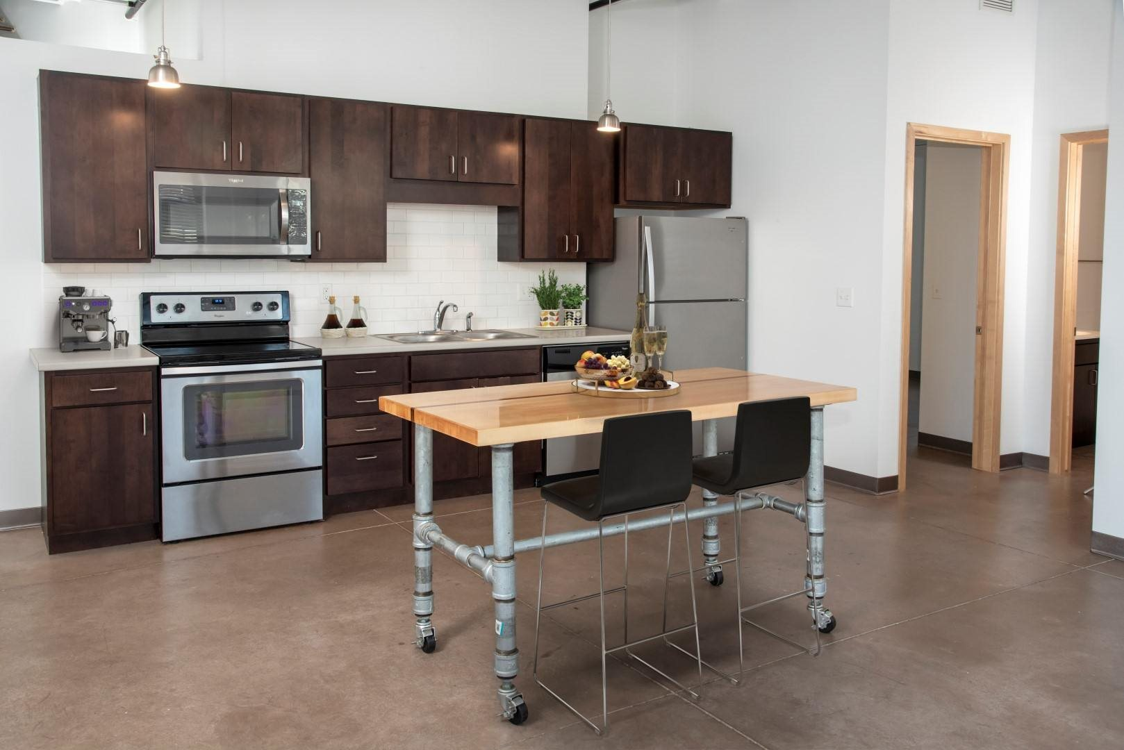 Gurley Lofts two bedroom kitchen