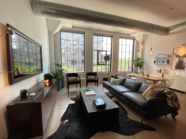 Gurley Lofts one bedroom living area