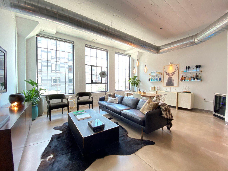Gurley Lofts one bedroom living room