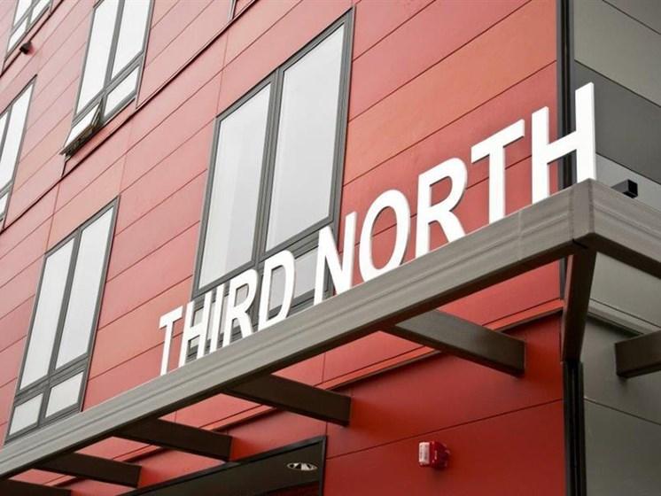 Property Signage at Third North, Minneapolis, 55401