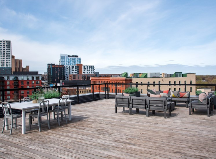 Rooftop Terrace at 700 Central Apartments, Minneapolis, MN