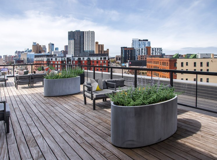 Rooftop View at 700 Central Apartments, Minneapolis, Minnesota