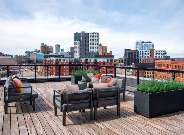 Rooftop Lounge at 700 Central Apartments, Minneapolis, MN