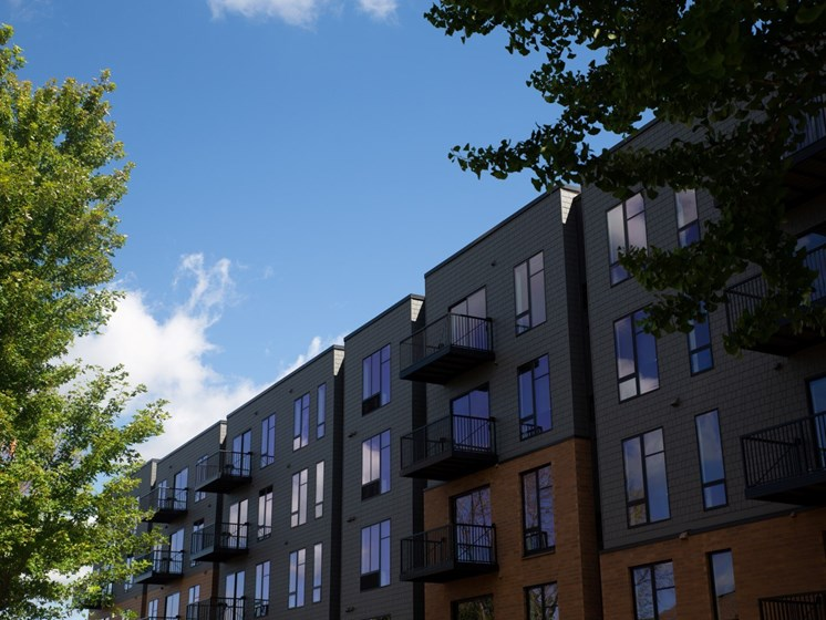 Elegant Exterior View Of Property at The Hill Apartments, Saint Paul, Minnesota